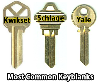 Most Common Keyblanks